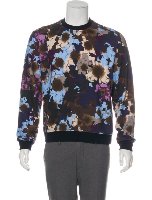 Versace Graphic Print Crew Neck Sweatshirt Black