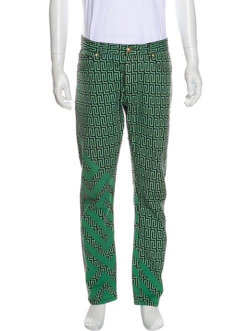 Versace Printed Skinny Jeans mint