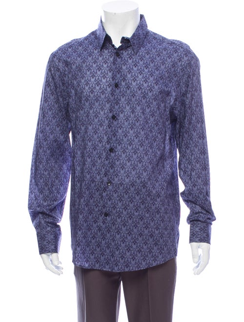 Versace Printed Button-Up Shirt