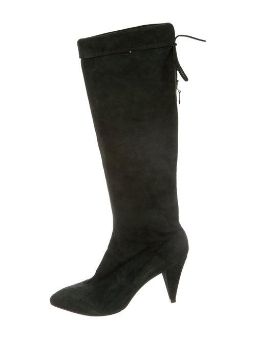 Versace Suede Boots Green