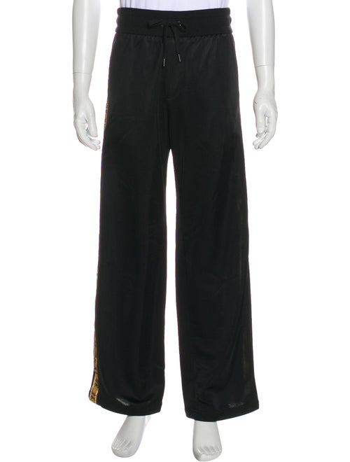 Versace Barocco-Trimmed Lounge Pants w/ Tags black