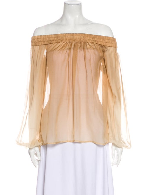 Versace Silk Off-The-Shoulder Blouse