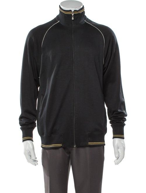 Versace V-Neck Long Sleeve Sweatshirt Black