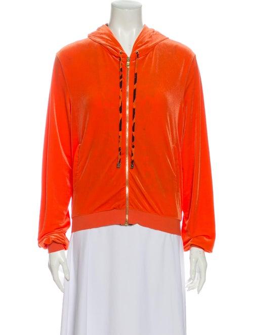 Versace Crew Neck Long Sleeve Sweatshirt Orange