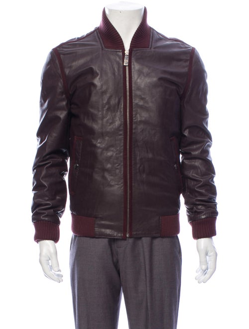 Versace Leather Jacket Red