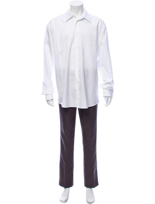 Versace Long Sleeve Dress Shirt White