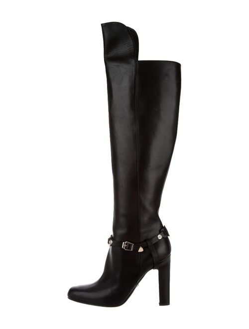 Versace Leather Boots Black