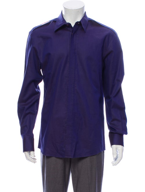 Versace Long Sleeve Dress Shirt Purple