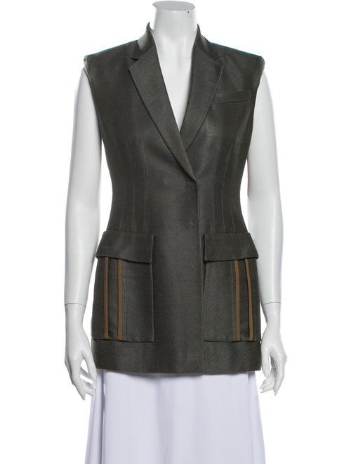 Versace Silk Vest Green