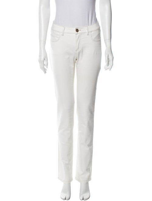 Versace Low-Rise Straight Leg Jeans White