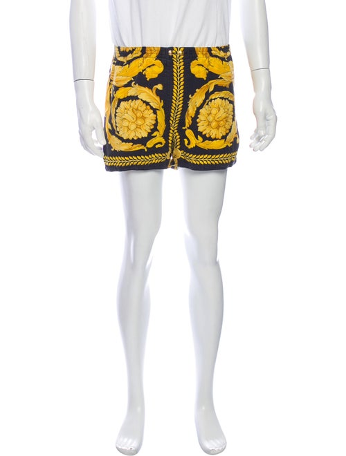 Versace Vintage Baroque Pajama Bottoms Yellow