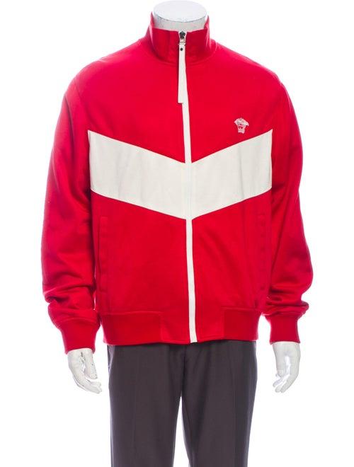 Versace Colorblock Pattern Mock Neck Sweatshirt Re