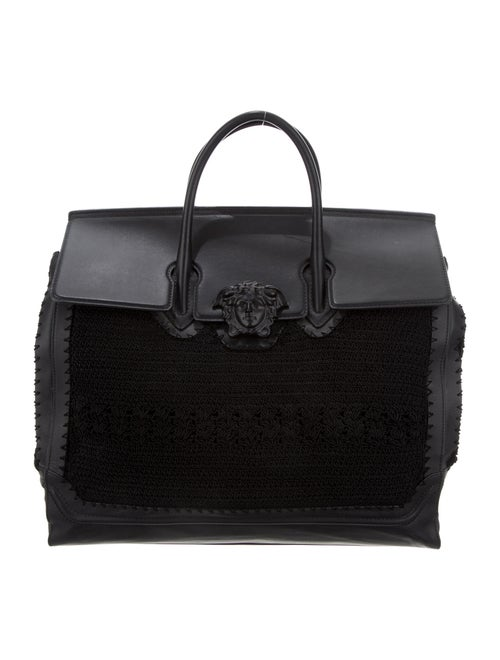 Versace Large Palazzo Empire Medusa Tote Black