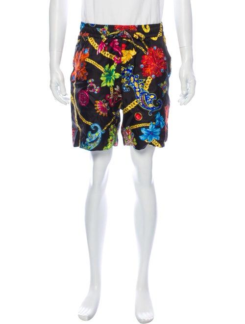 Versace Silk Shorts Black