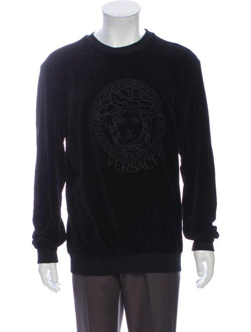 Versace Crew Neck Long Sleeve Sweatshirt Black