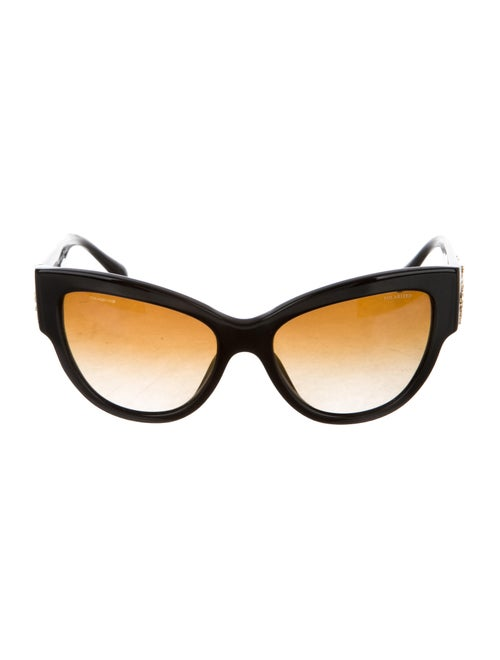 Versace Medusa Cat-Eye Sunglasses Black