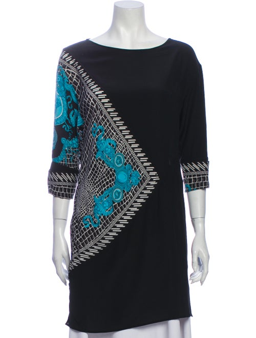 Versace Silk Printed Tunic Black