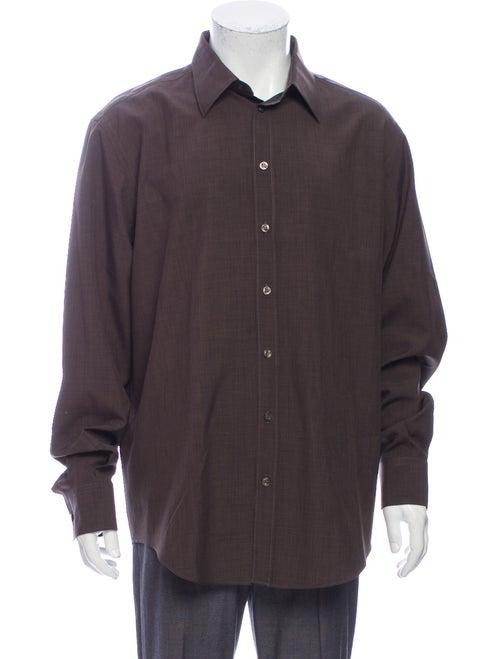 Versace Vintage Long Sleeve Shirt Brown