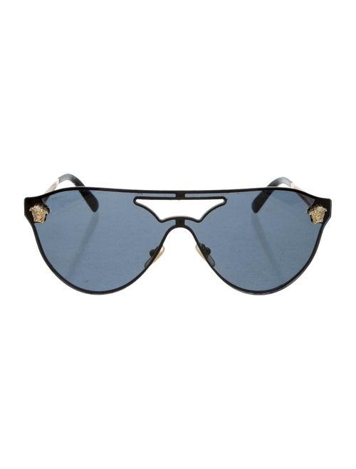 Versace Medusa Aviator Sunglasses gold