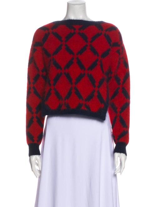 Versace Wool Printed Sweater Wool