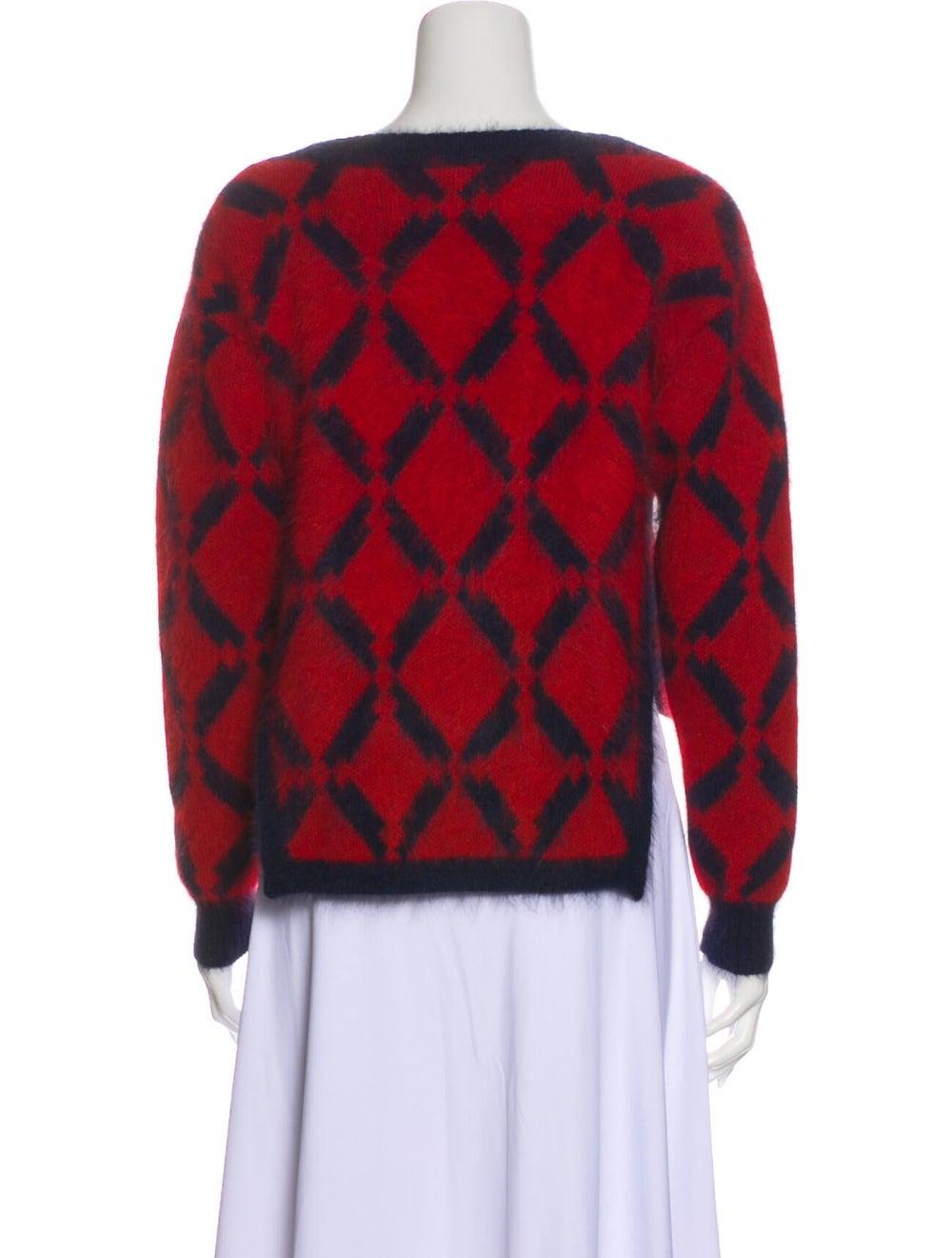 Versace Wool Printed Sweater Wool - image 3