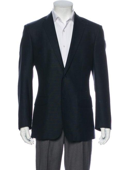 Versace Silk Blazer Blue