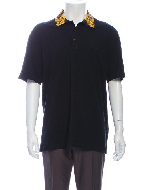 Versace Crew Neck Short Sleeve Polo Shirt Black