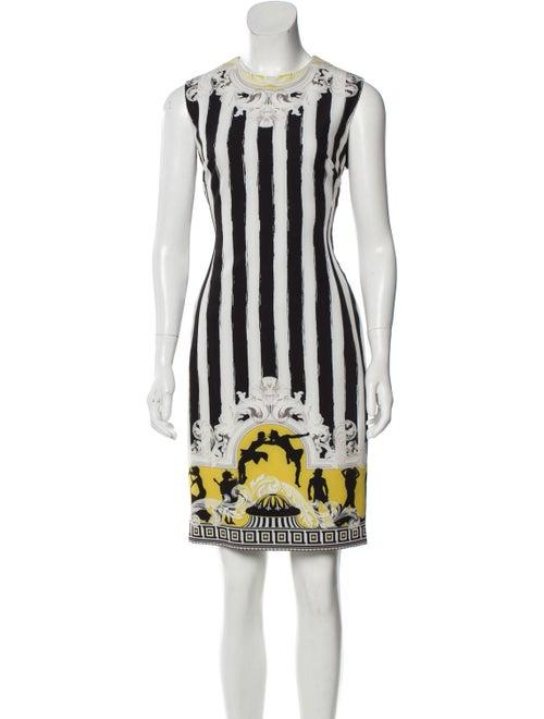 Versace Sleeveless Knee-Length Dress White