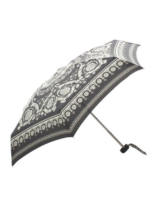 Versace Nylon Printed Umbrella Black
