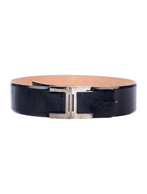 Versace Patent Leather Belt Black