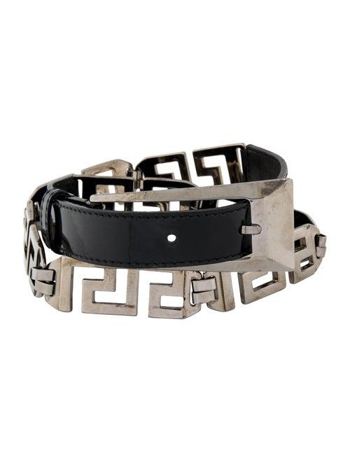 Versace Patent Leather Waist Belt Black