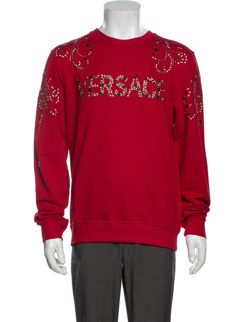 Versace 2017 Graphic Print Sweatshirt w/ Tags Red
