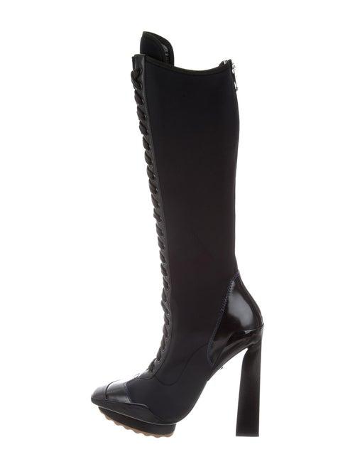 Versace Lace-Up Boots Blue