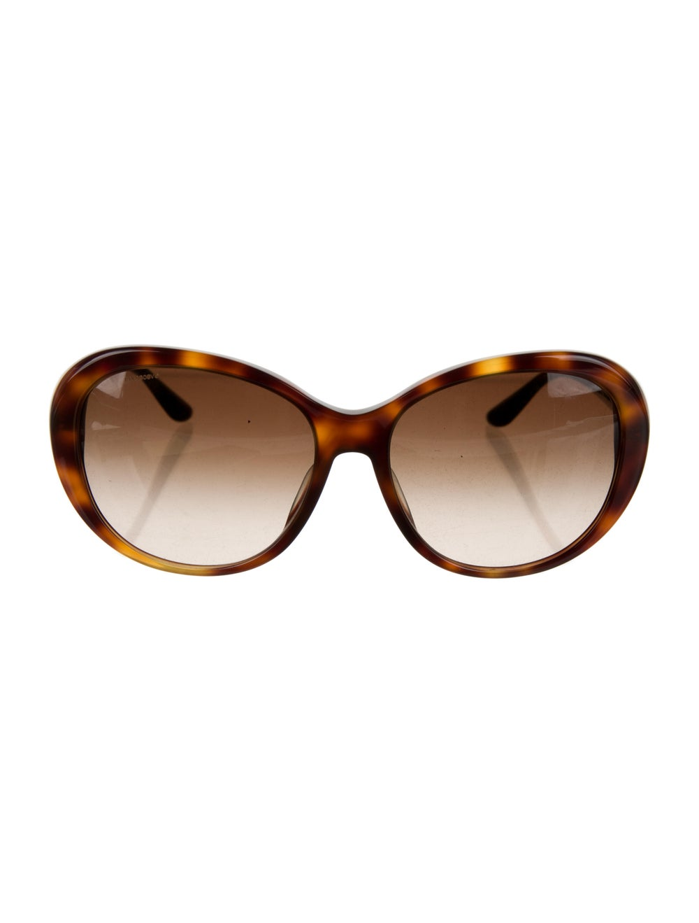 Versace Cat-Eye Gradient Sunglasses Brown - image 1