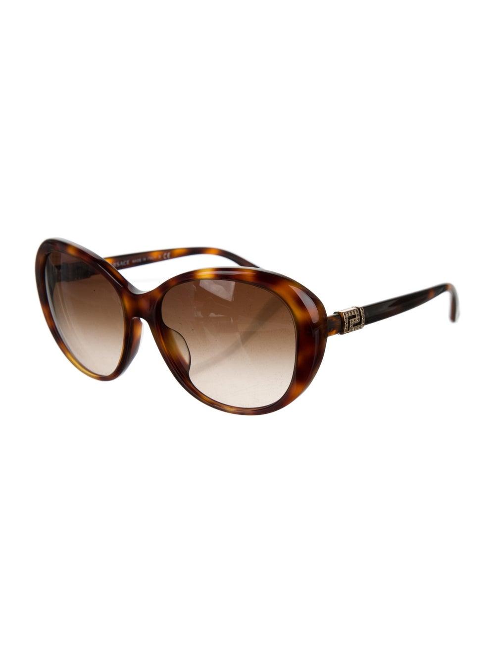 Versace Cat-Eye Gradient Sunglasses Brown - image 2