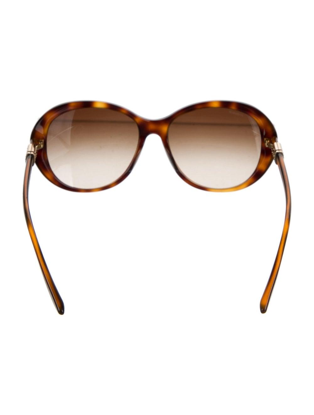 Versace Cat-Eye Gradient Sunglasses Brown - image 3