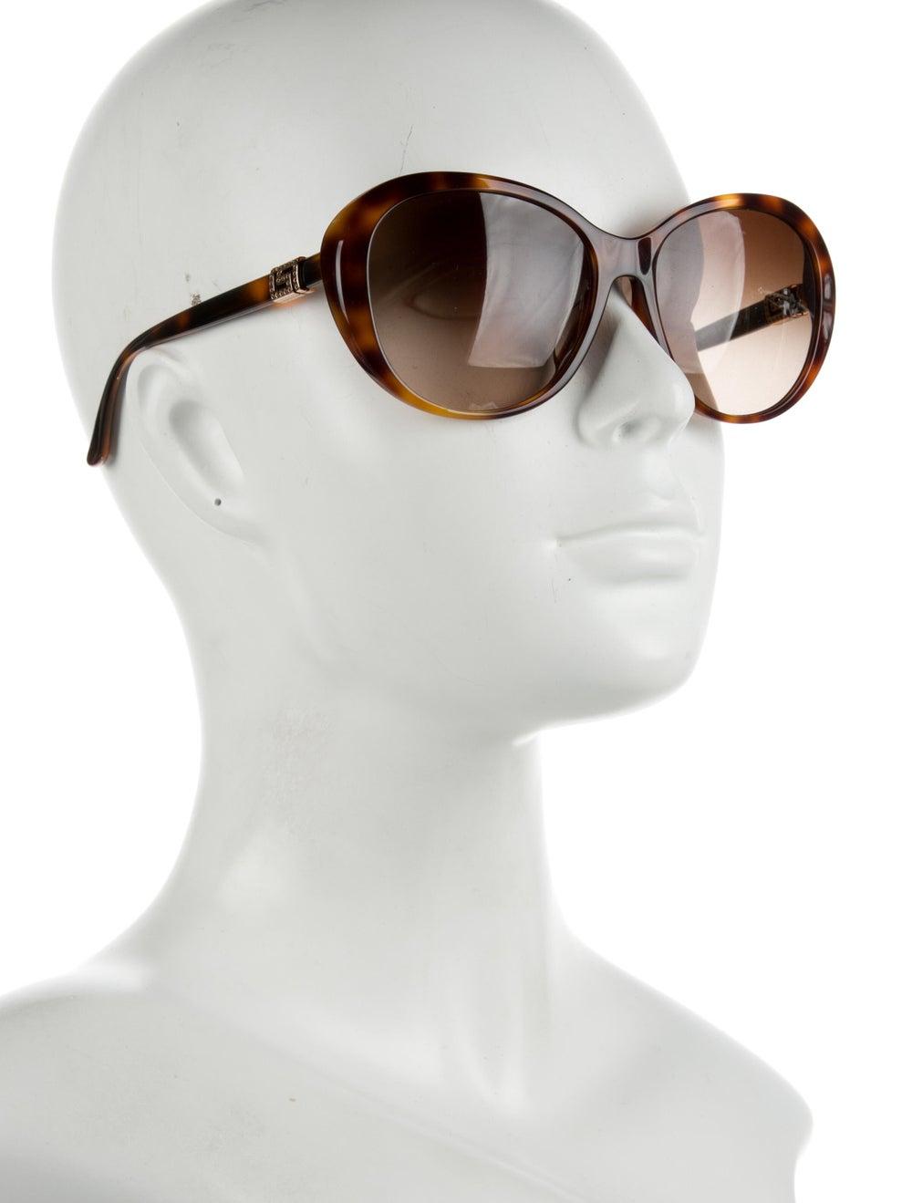 Versace Cat-Eye Gradient Sunglasses Brown - image 4