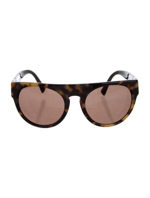 Versace Cat-Eye Mirrored Sunglasses Brown - image 1
