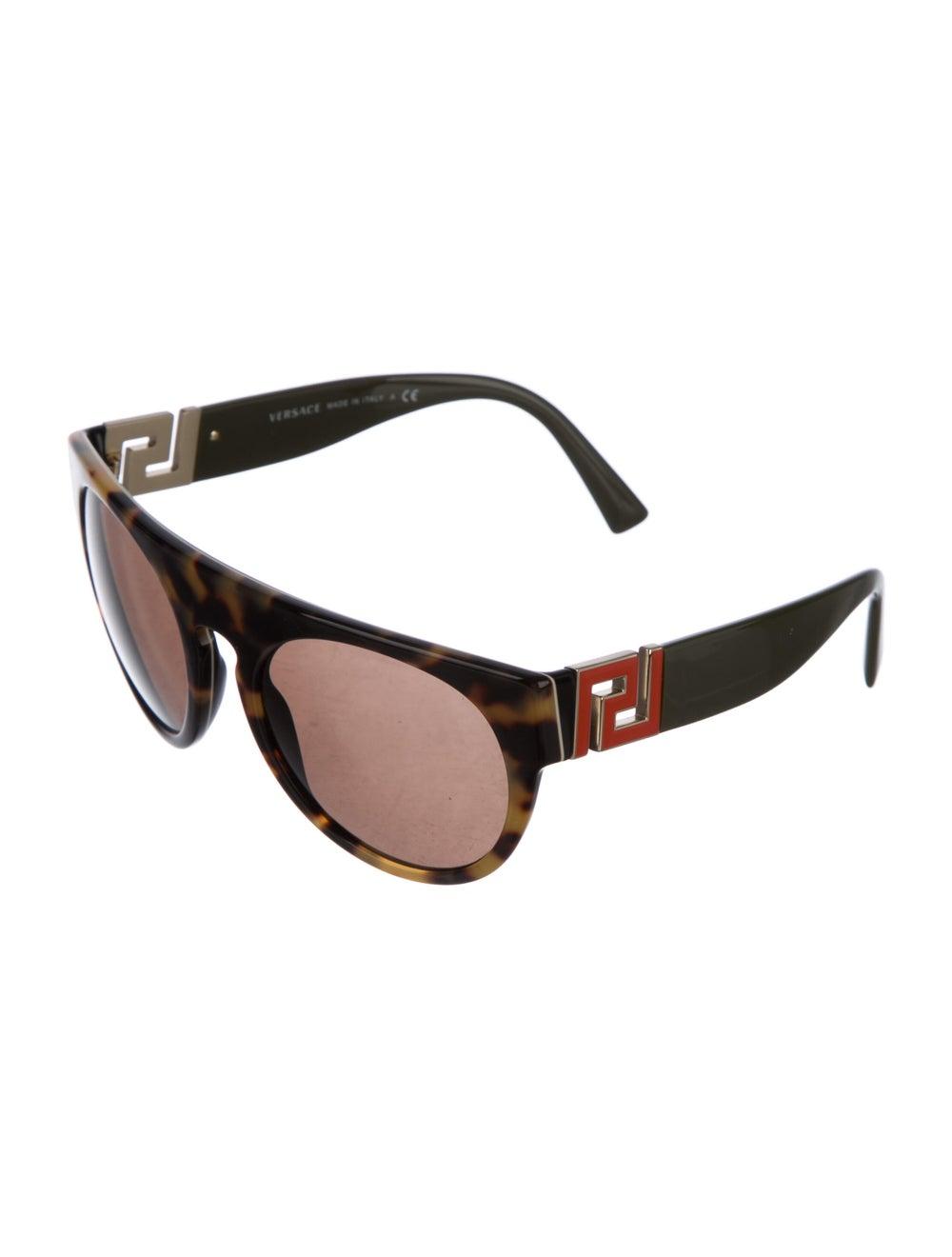 Versace Cat-Eye Mirrored Sunglasses Brown - image 2