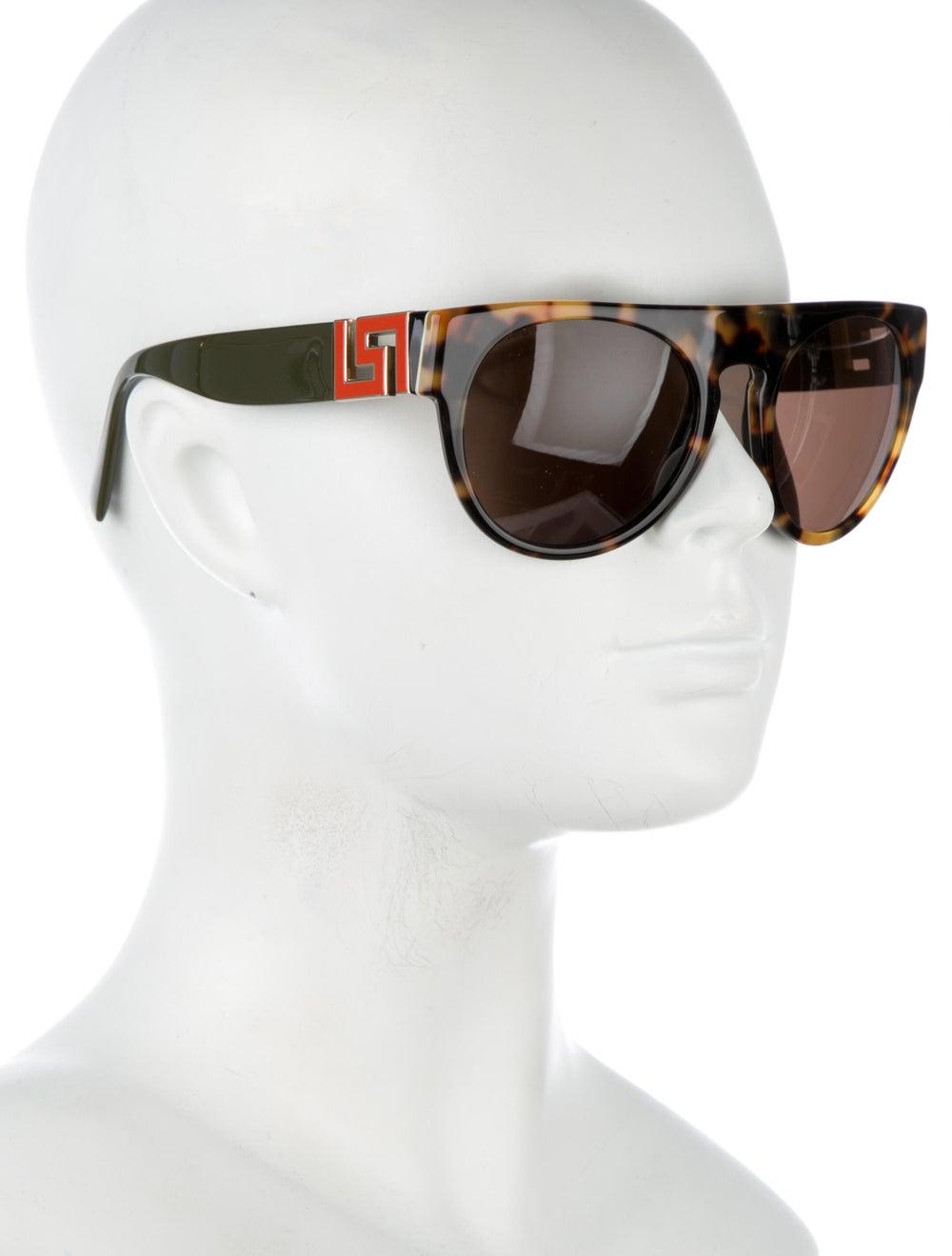 Versace Cat-Eye Mirrored Sunglasses Brown - image 4