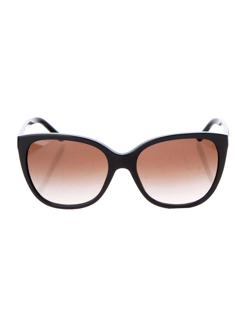 Versace Medusa Insignia Cat-Eye Sunglasses Black - image 1