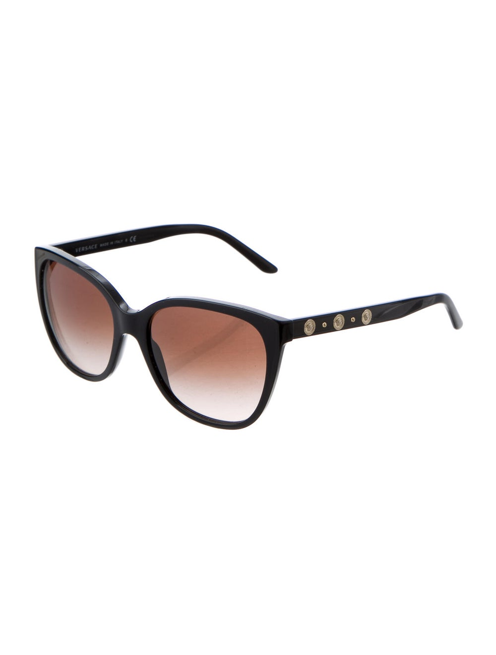 Versace Medusa Insignia Cat-Eye Sunglasses Black - image 2