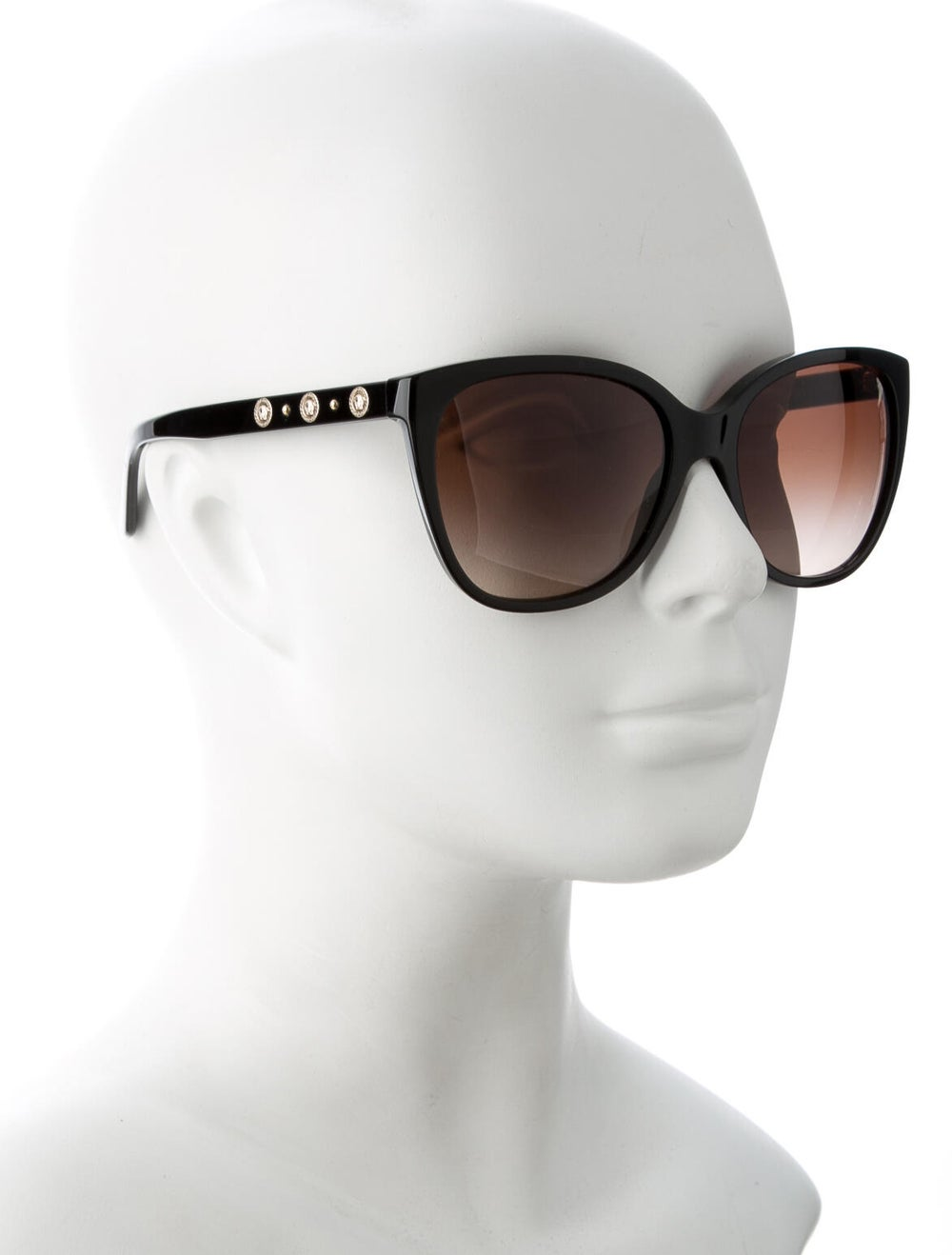 Versace Medusa Insignia Cat-Eye Sunglasses Black - image 4