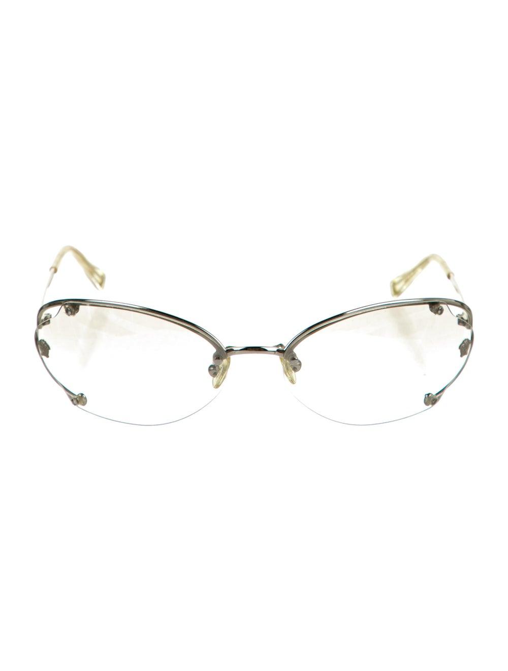 Versace Cat-Eye Mirrored Sunglasses Silver - image 1