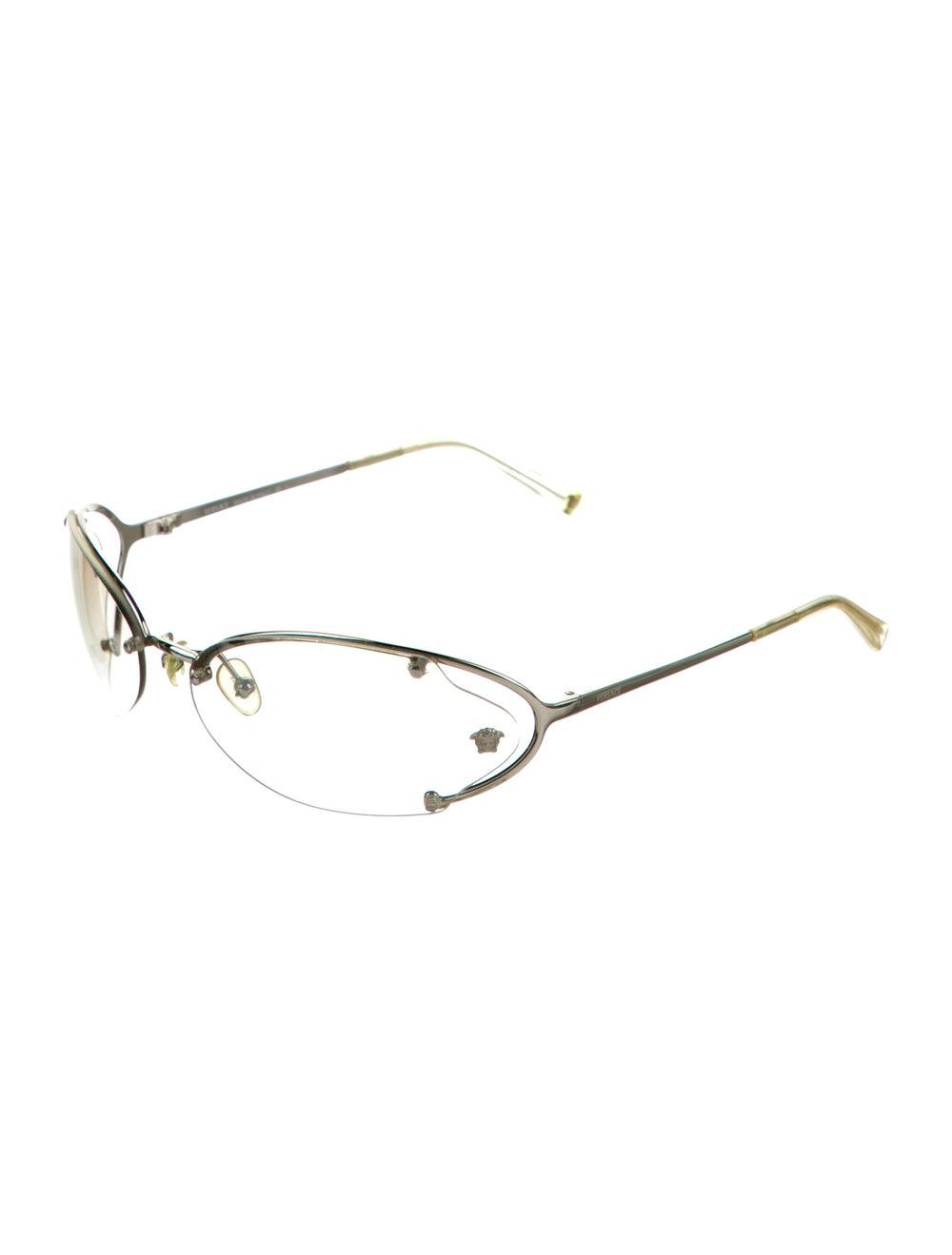 Versace Cat-Eye Mirrored Sunglasses Silver - image 2