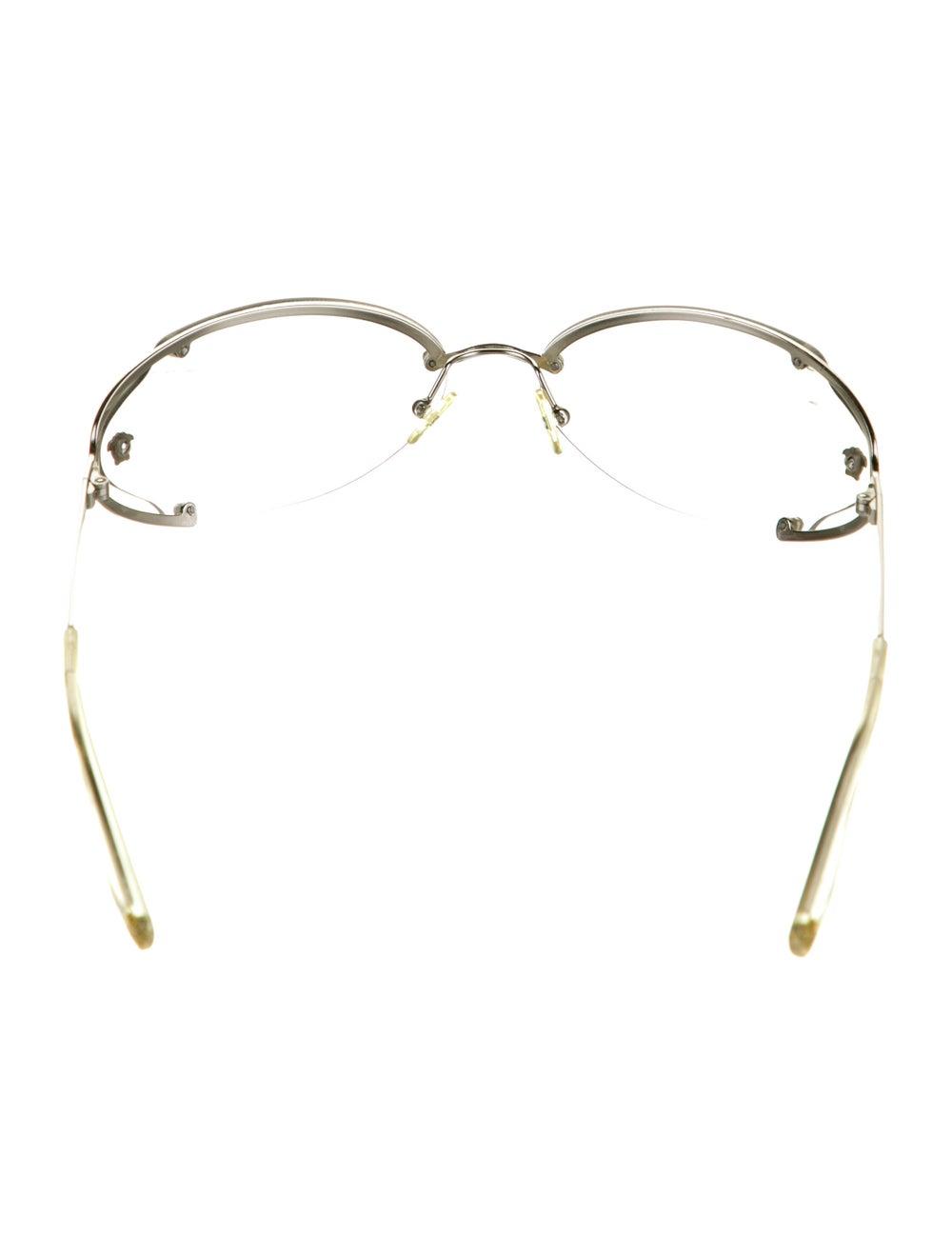 Versace Cat-Eye Mirrored Sunglasses Silver - image 3