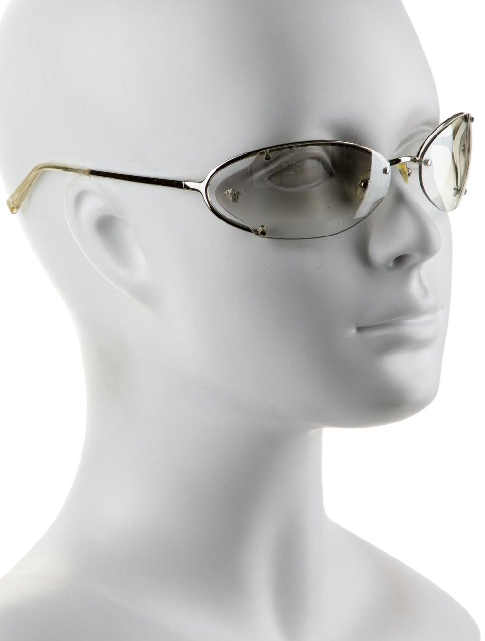 Versace Cat-Eye Mirrored Sunglasses Silver - image 4