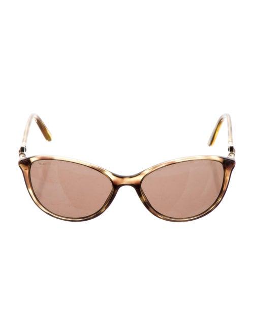 Versace Cat-Eye Tinted Sunglasses Gold - image 1