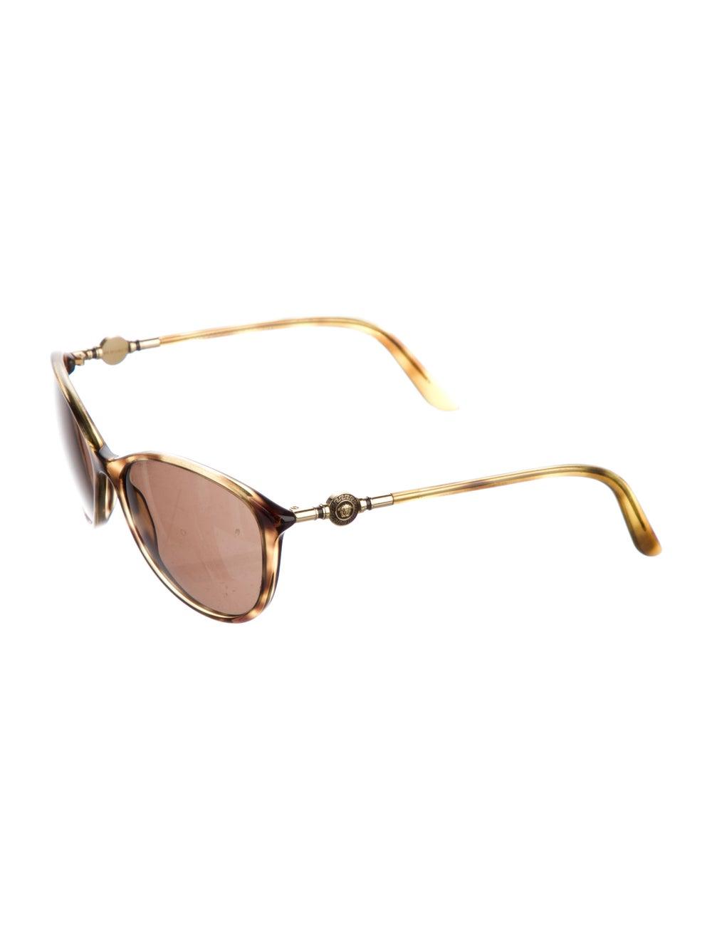 Versace Cat-Eye Tinted Sunglasses Gold - image 2