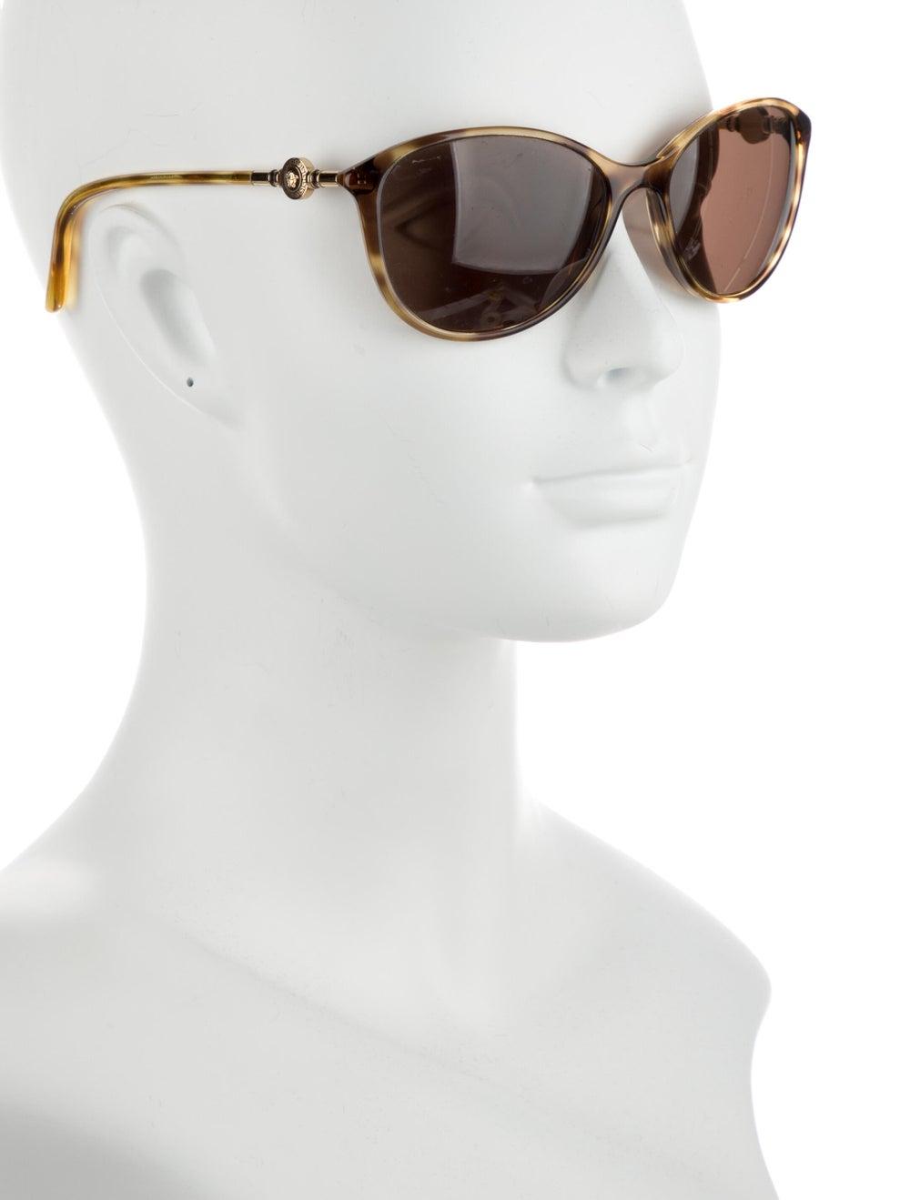 Versace Cat-Eye Tinted Sunglasses Gold - image 4